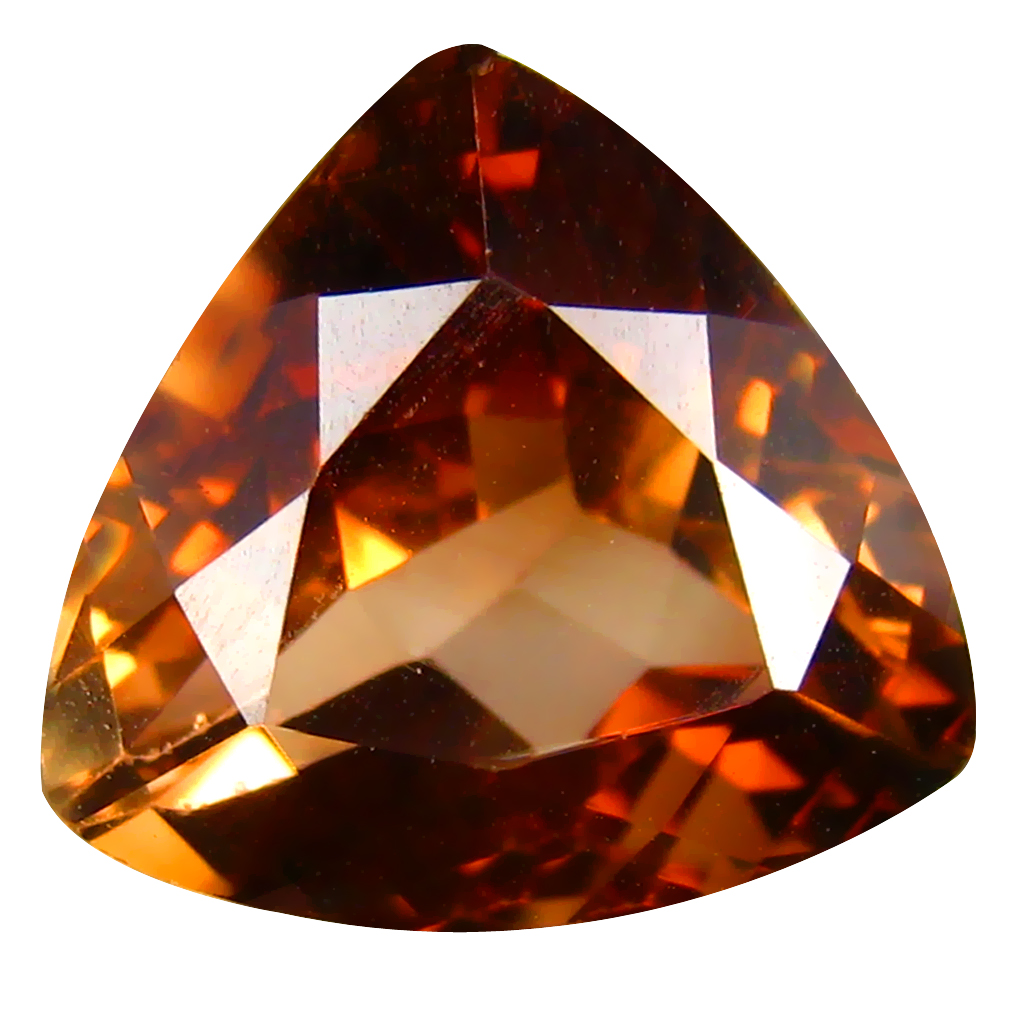 10.97 ct AAA Magnificent Triangle Shape (14 x 13 mm) Champagne Champion Topaz Natural Gemstone