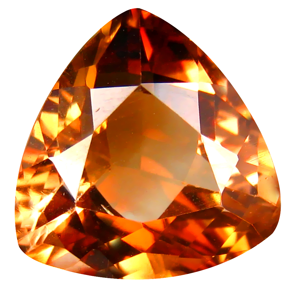 11.37 ct AAA Significant Triangle Shape (14 x 14 mm) Champagne Champion Topaz Natural Gemstone