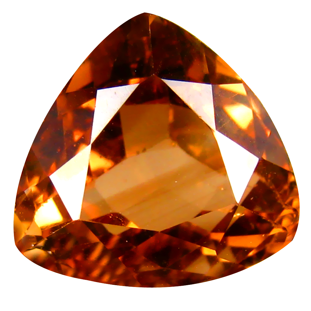 14.58 ct AAA Sparkling Triangle Shape (14 x 14 mm) Champagne Champion Topaz Natural Gemstone