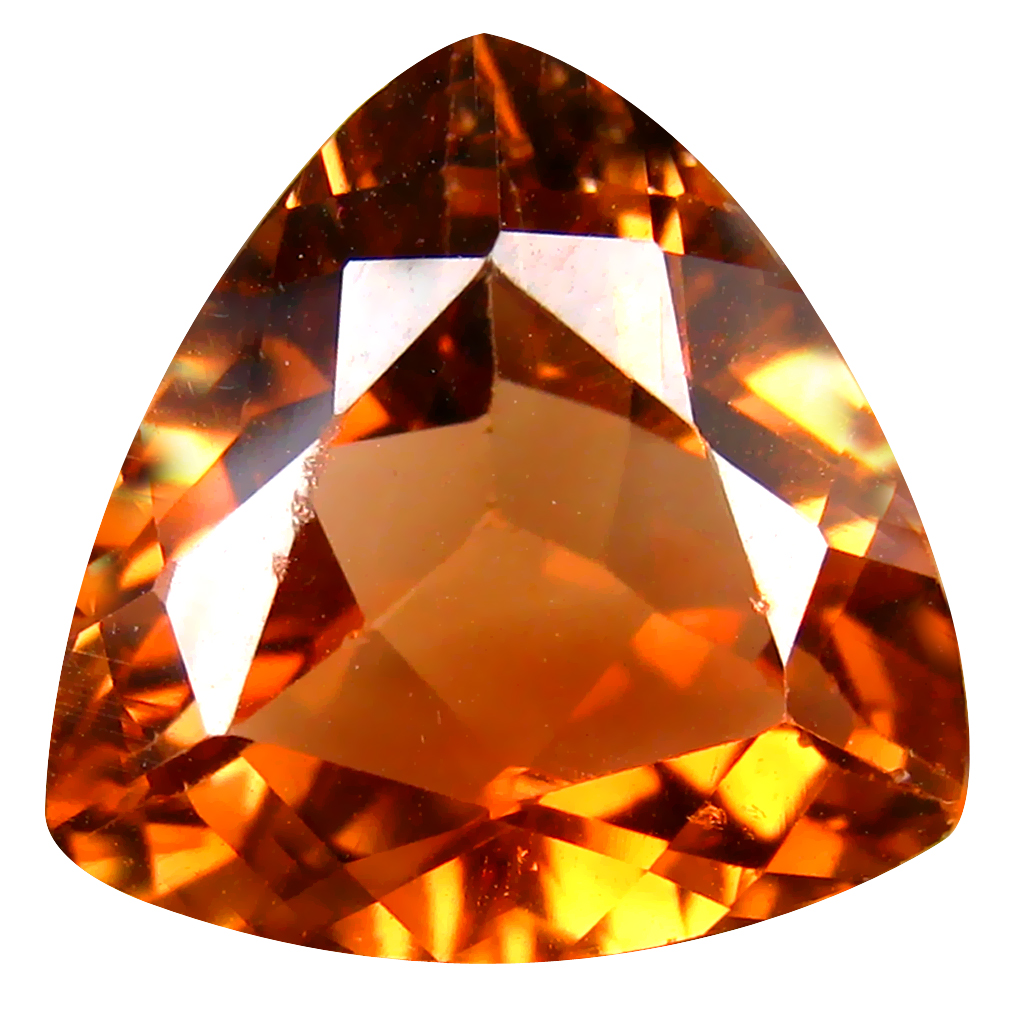 11.48 ct AAA Beautiful Triangle Shape (15 x 15 mm) Champagne Champion Topaz Natural Gemstone