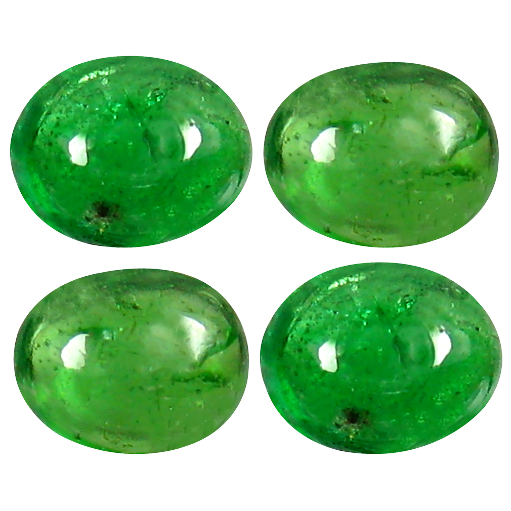 1.79 ct (4 pcs Lot) Extraordinary MIXED SIZE Green Tsavorite Garnet Natural Gemstone