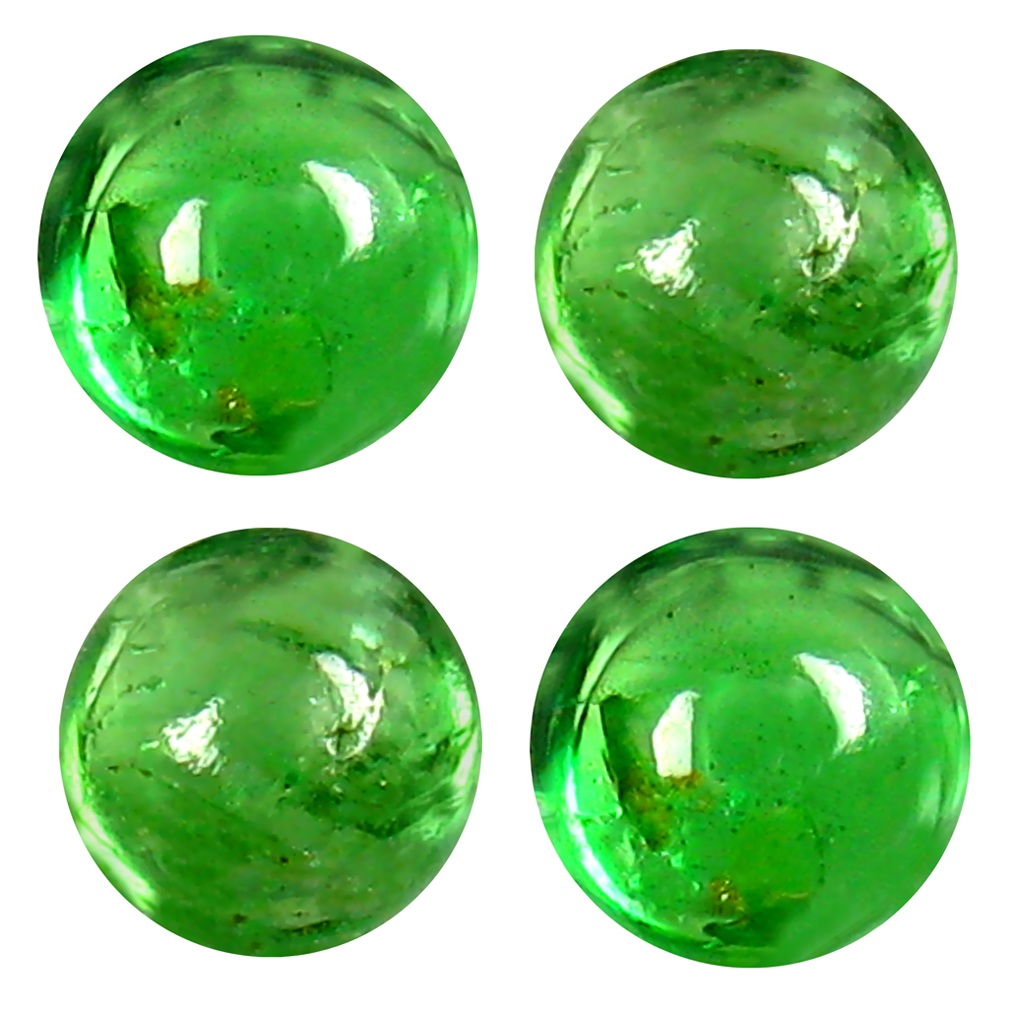 1.35 ct (4 pcs Lot) Unbelievable MIXED SIZE Green Tsavorite Garnet Natural Gemstone