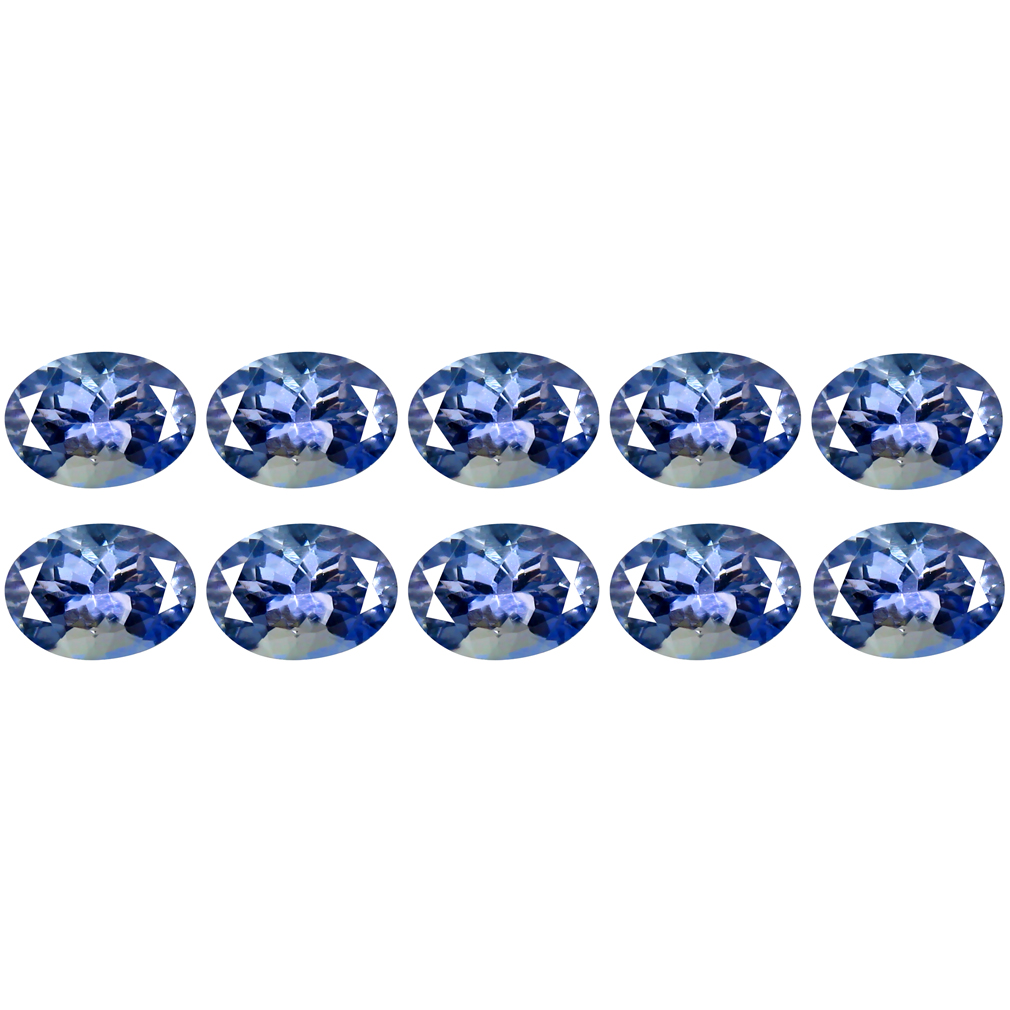 4.53 ct (10 pcs Lot) Five-star MIXED SIZE Purplish Blue Tanzanite Natural Gemstone