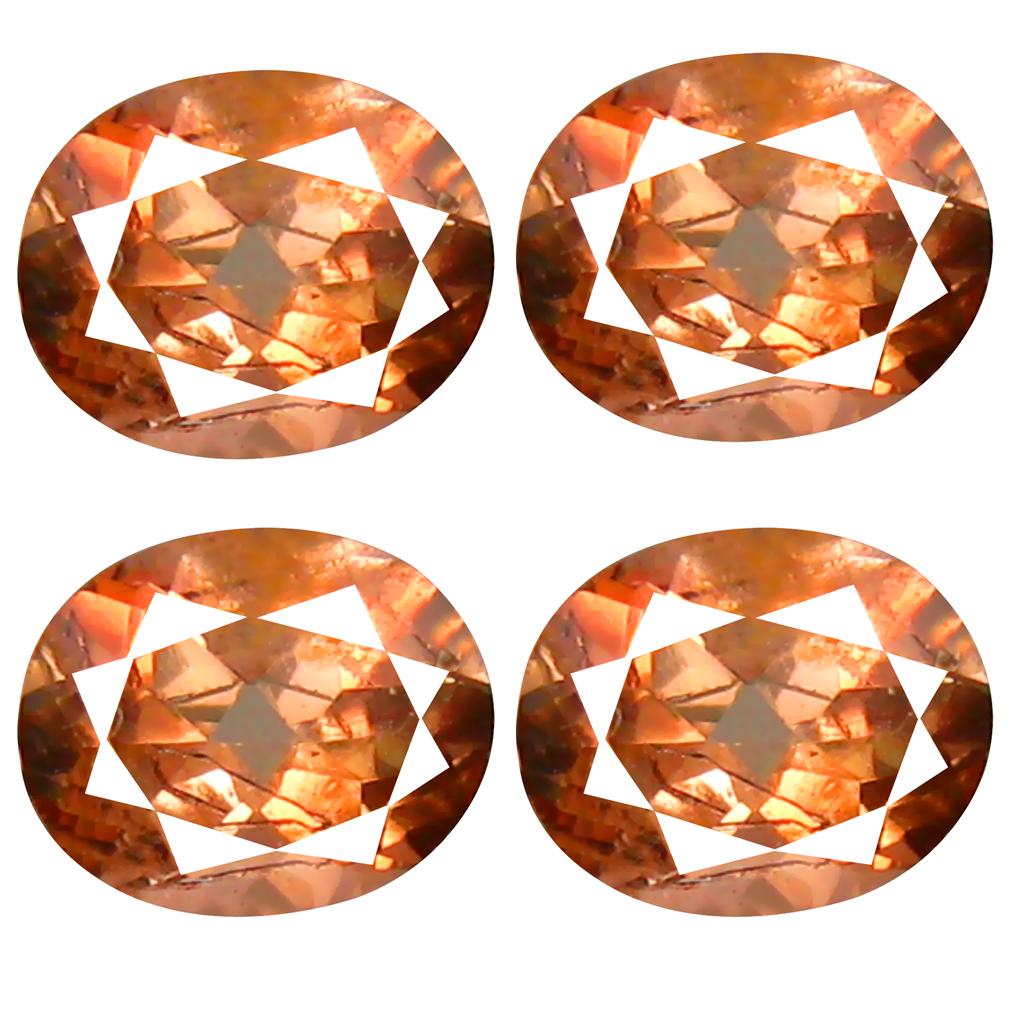 1.44 ct (4 pcs Lot) Valuable MIXED SIZE Pinkish Orange Andalusite Natural Gemstone