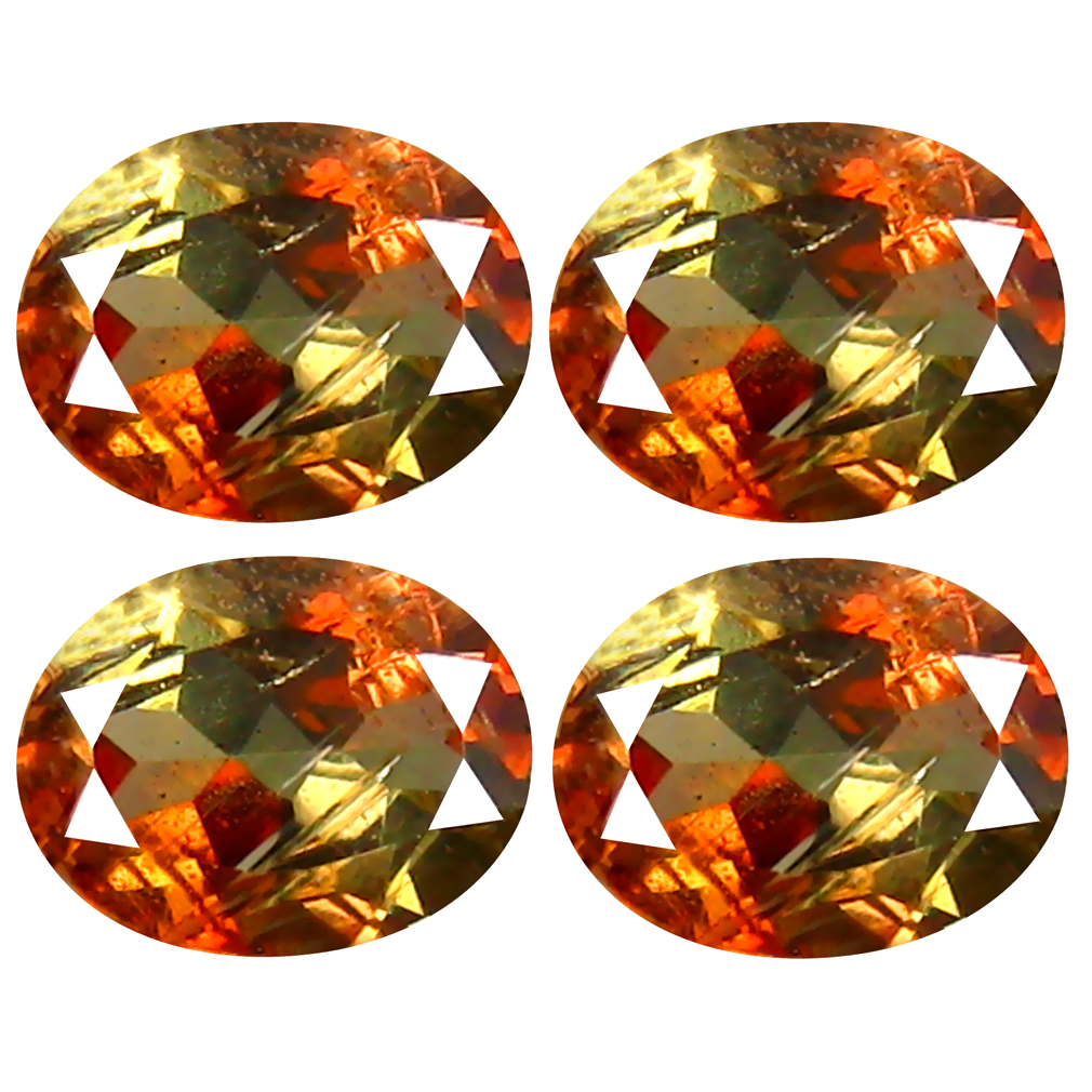 1.44 ct (4 pcs Lot) Spectacular MIXED SIZE Multi Color Andalusite Natural Gemstone