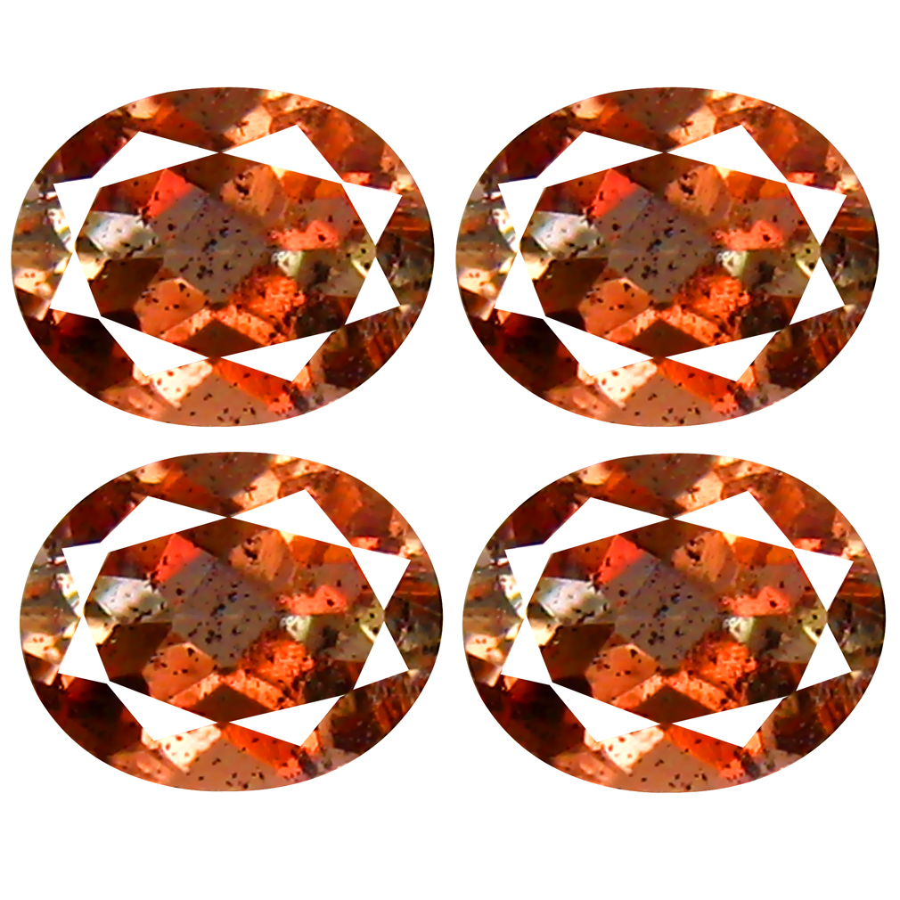 1.39 ct (4 pcs Lot) Spectacular MIXED SIZE Brownish Orange Andalusite Natural Gemstone