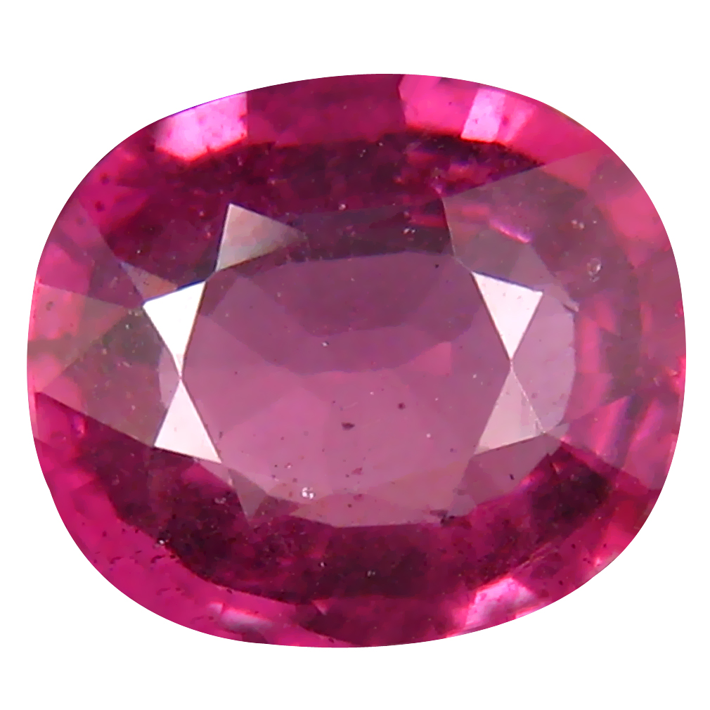 1.76 ct Sparkling Un-Heated Oval Cut (8 x 7 mm) Purplish Pink Rhodolite Garnet