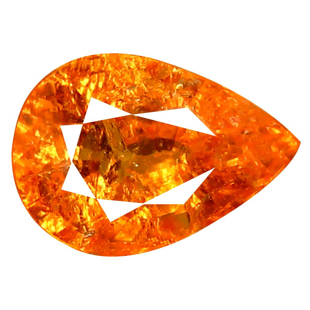 1.34 ct AAA Amazing Pear Shape (7 x 5 mm) Fanta Orange Spessartine Natural Gemstone