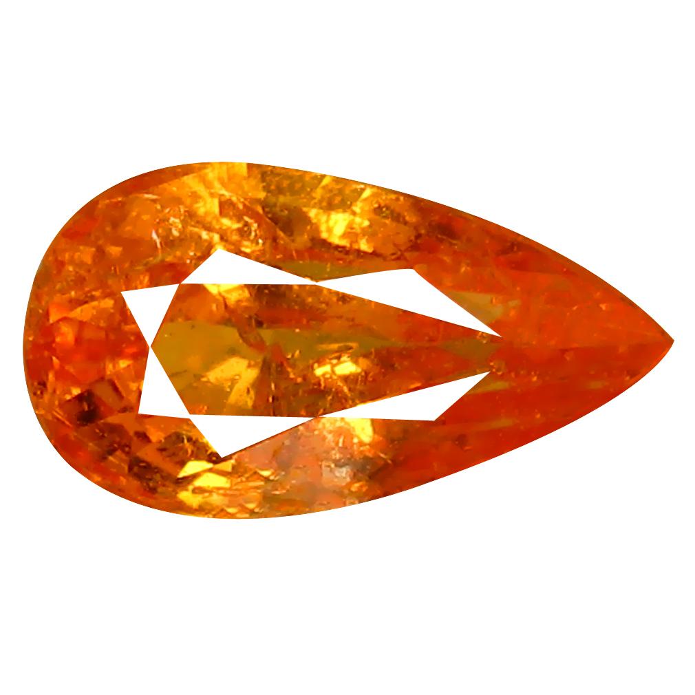 1.36 ct AAA Superior Pear Shape (9 x 5 mm) Fanta Orange Spessartine Natural Gemstone
