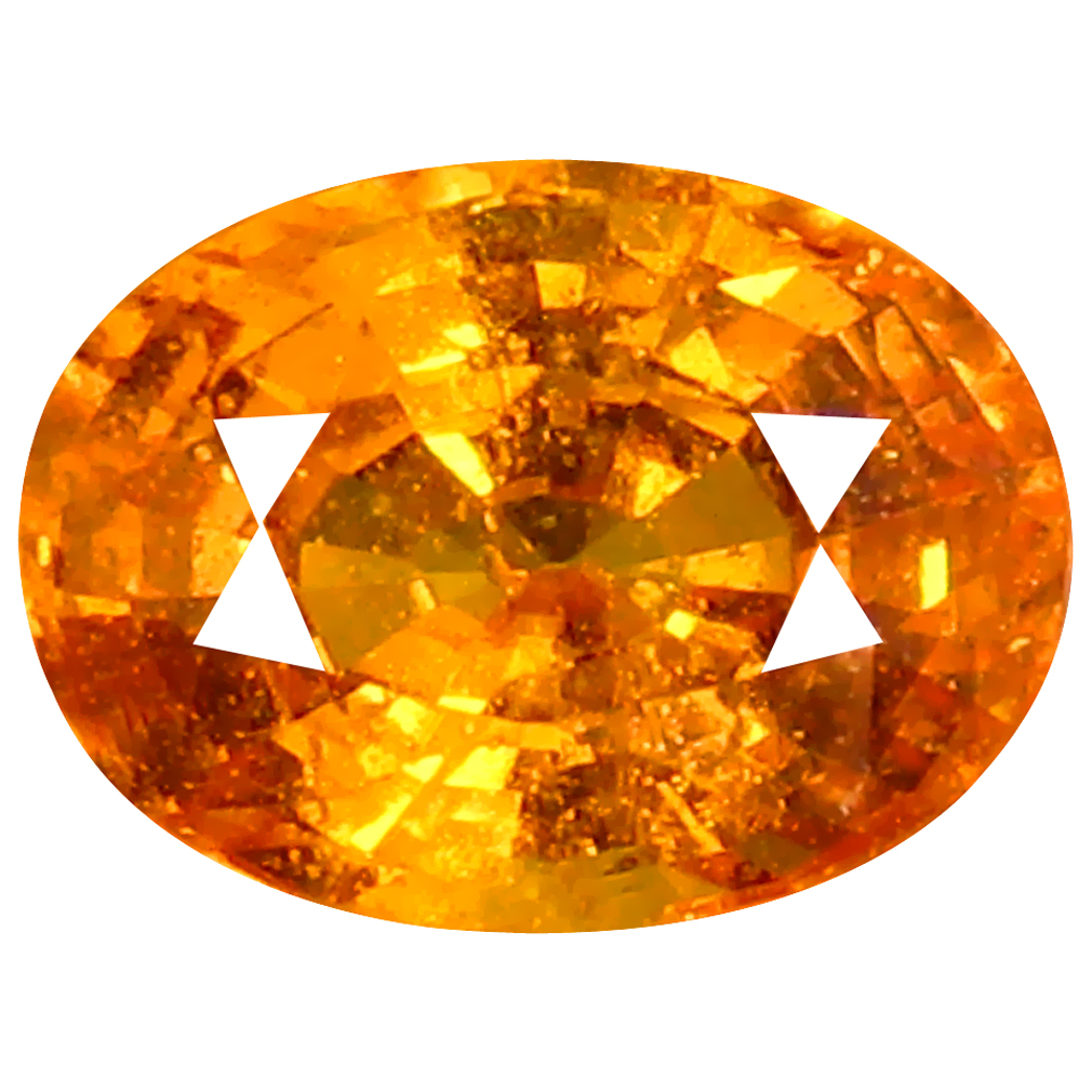0.95 ct AAA Significant Oval Shape (6 x 5 mm) Fanta Orange Spessartine Natural Gemstone