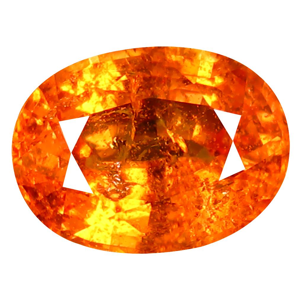 1.64 ct AAA Attractive Oval Shape (8 x 6 mm) Fanta Orange Spessartine Natural Gemstone