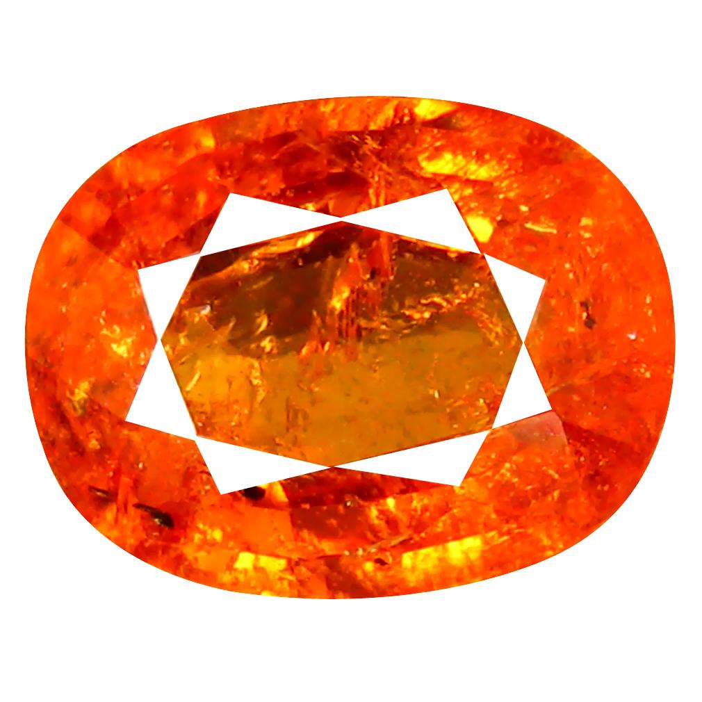 1.69 ct AAA Five-star Oval Shape (8 x 6 mm) Fanta Orange Spessartine Natural Gemstone