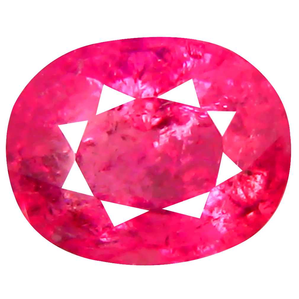 0.71 ct AAA Lovely Oval Shape (6 x 5 mm) Pinkish Red Rubellite Tourmaline Natural Gemstone