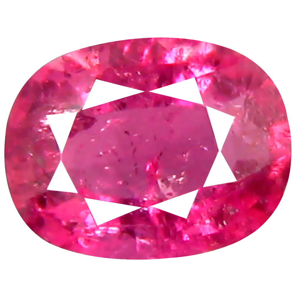 0.63 ct AAA First-class Oval Shape (6 x 5 mm) Pinkish Red Rubellite Tourmaline Natural Gemstone