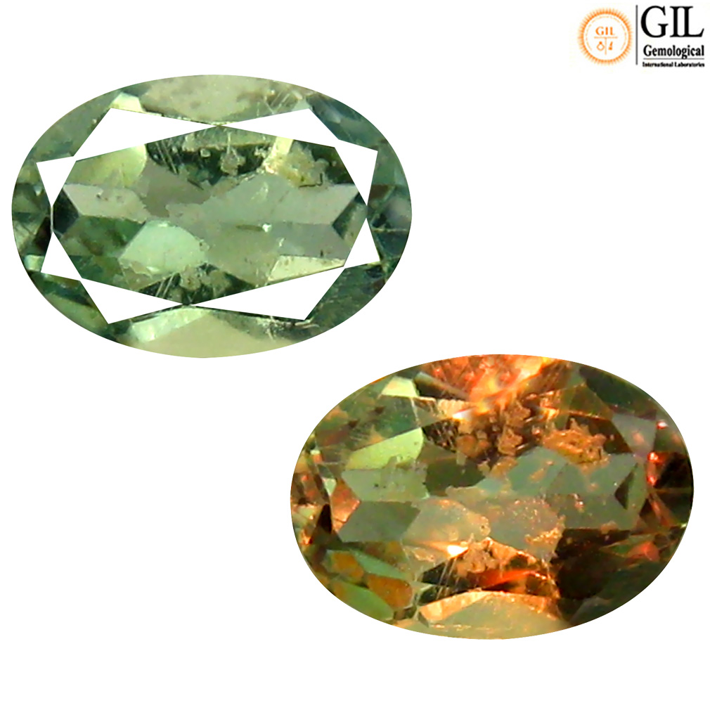 0.87 ct GIL CERTIFIED SIGNIFICANT OVAL CUT (7 X 5 MM) UN-HEATED COLOR CHANGE ALEXANDRITE GEMSTONE