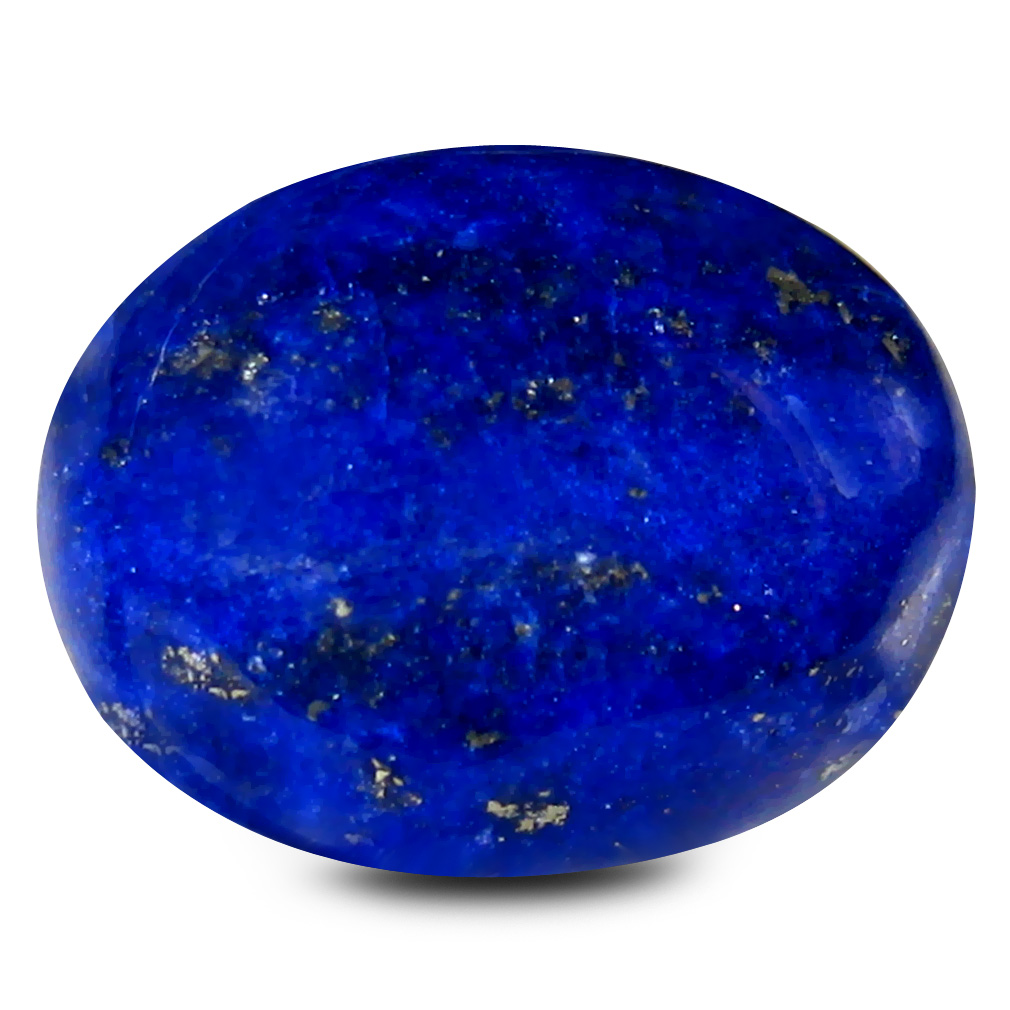 11.97 ct AAA Fair Oval Cabochon Shape (16 x 13 mm) Violetish Blue Lapis Lazuli Natural Gemstone
