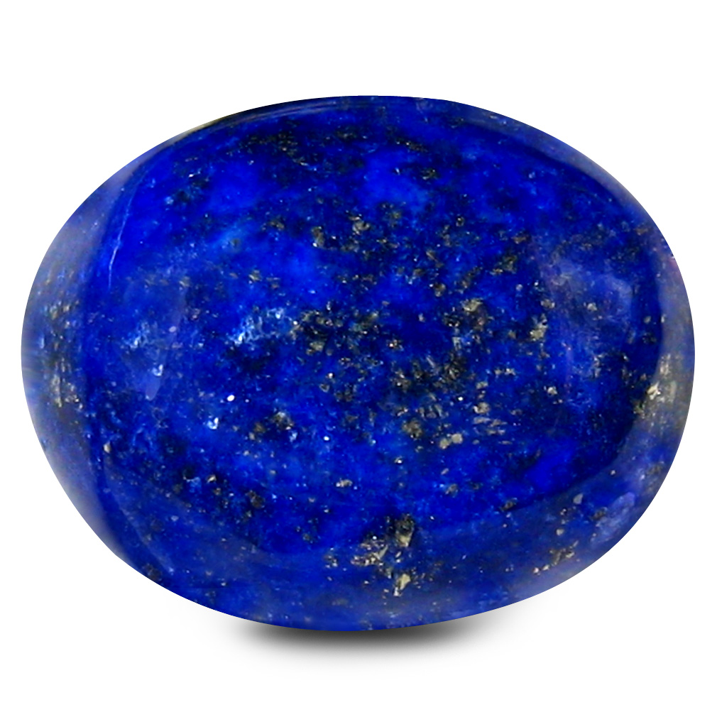 12.46 ct AAA Incomparable Oval Cabochon Shape (14 x 12 mm) Violetish Blue Lapis Lazuli Natural Gemstone