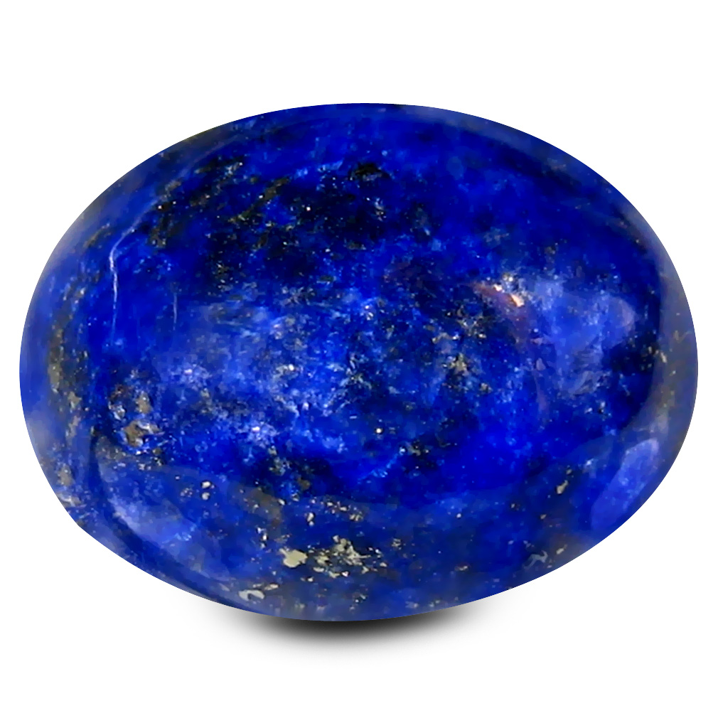 10.02 ct AAA Fantastic Oval Cabochon Shape (14 x 11 mm) Violetish Blue Lapis Lazuli Natural Gemstone