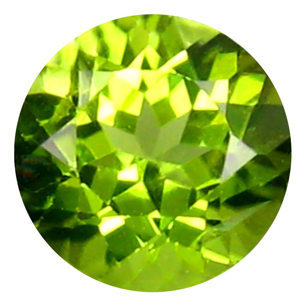 1.28 ct Fantastic Round Cut (7 x 7 mm) Pakistan Green Peridot Natural Gemstone