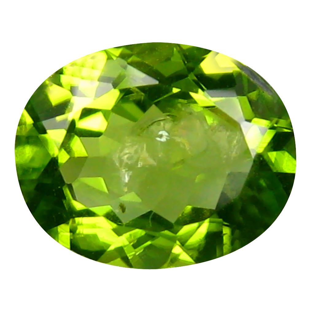 3.71 ct Eye-catching Oval Cut (11 x 9 mm) Pakistan Green Peridot Natural Gemstone