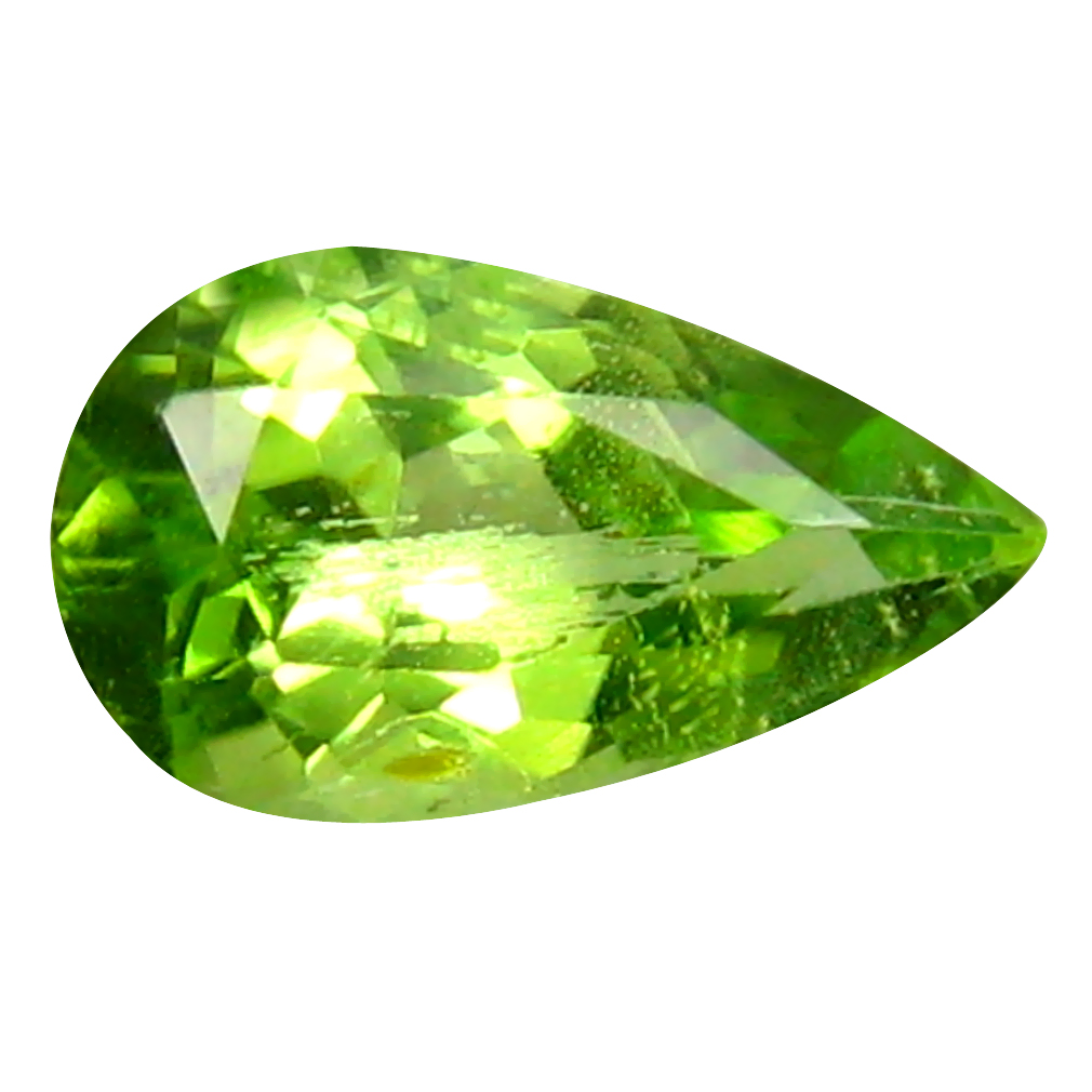 1.56 ct Gorgeous Pear Cut (10 x 6 mm) Pakistan Green Peridot Natural Gemstone