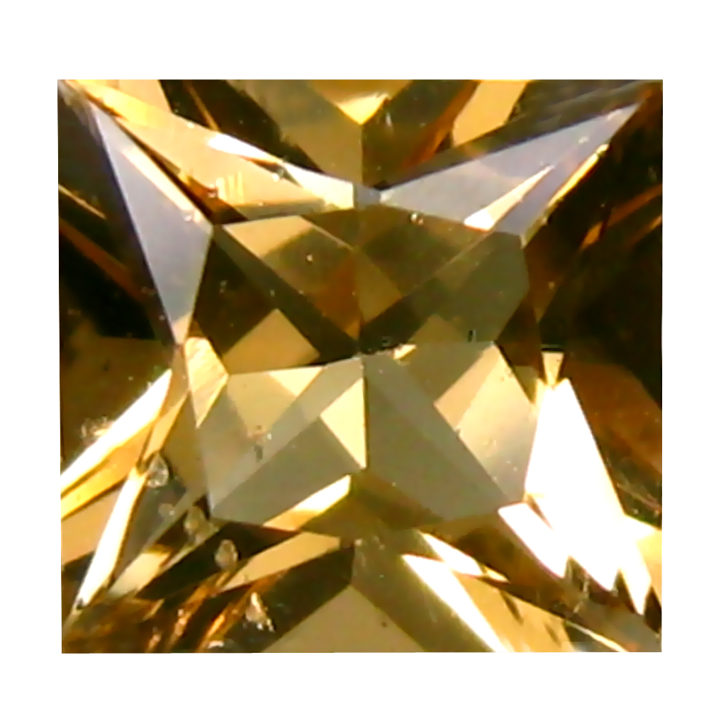1.05 ct Grand looking Princess Cut (6 x 6 mm) 100% Natural Yellow Heliodor Beryl Natural Gemstone