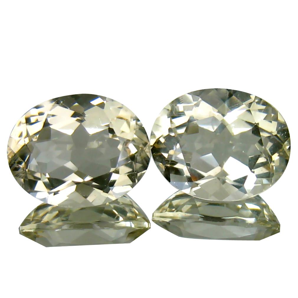 4.85 ct (2pcs) Mesmerizing MATCHING PAIR Oval Shape (10 x 8 mm) Yellow Andesine Natural Gemstone