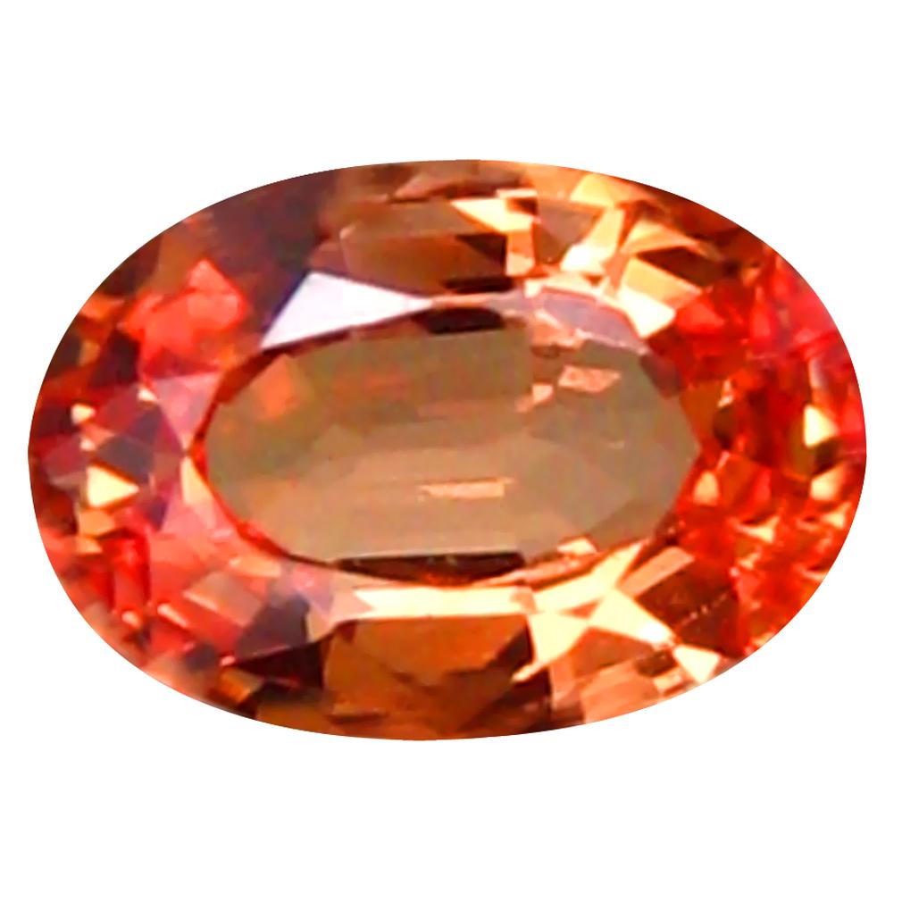 0.52 ct Pretty Oval Cut (6 x 4 mm) Ceylon - Sri Lanka Orange Yellow Sapphire Natural Gemstone