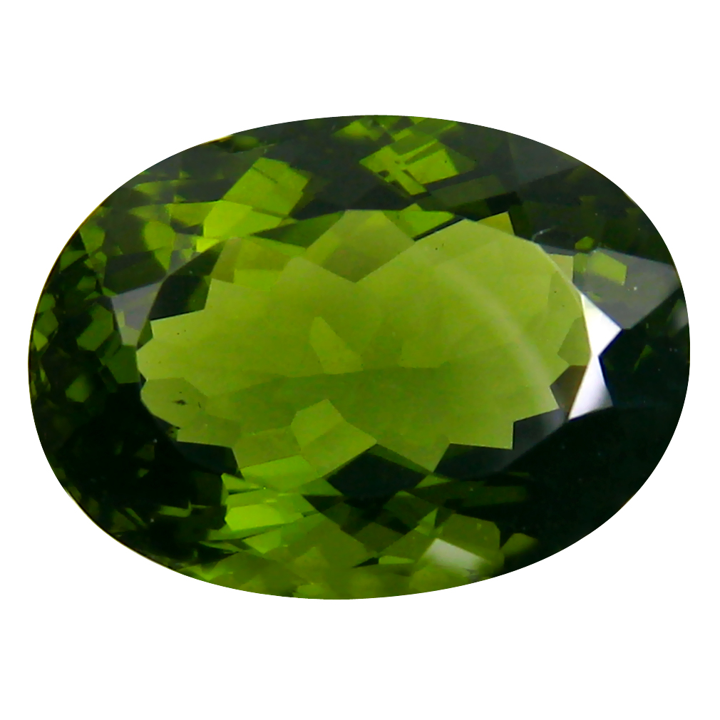 9.74 ct Topnotch Oval Cut (16 x 12 mm) Czech Republic Green Moldavite Natural Gemstone