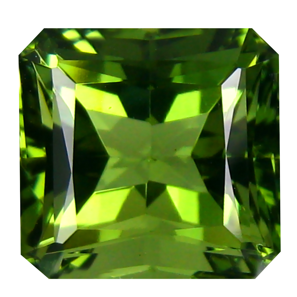 5.88 ct Five-star Octagon Cut (11 x 10 mm) Czech Republic Green Moldavite Natural Gemstone
