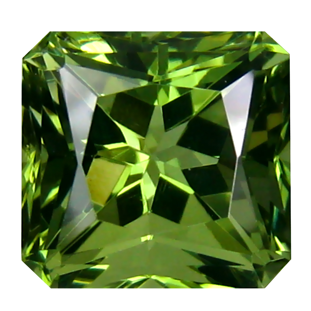 3.83 ct Spectacular Octagon Cut (9 x 9 mm) Czech Republic Green Moldavite Natural Gemstone