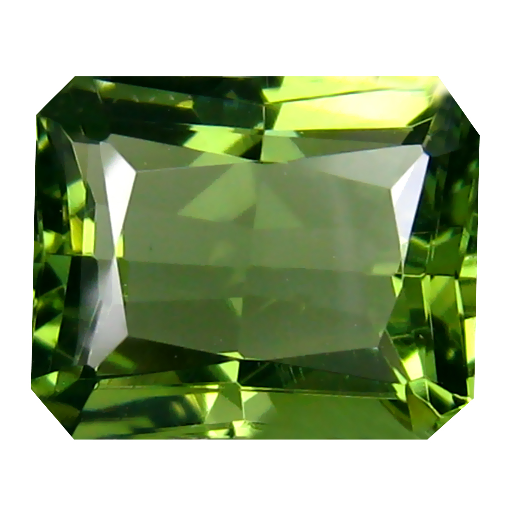 3.62 ct Eye-catching Octagon Cut (11 x 9 mm) Czech Republic Green Moldavite Natural Gemstone