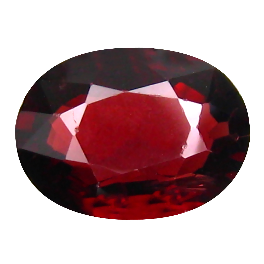 1.24 ct Charming Oval Cut (8 x 6 mm) Tanzanian Pinkish Red Rhodolite Garnet Loose Gemstone