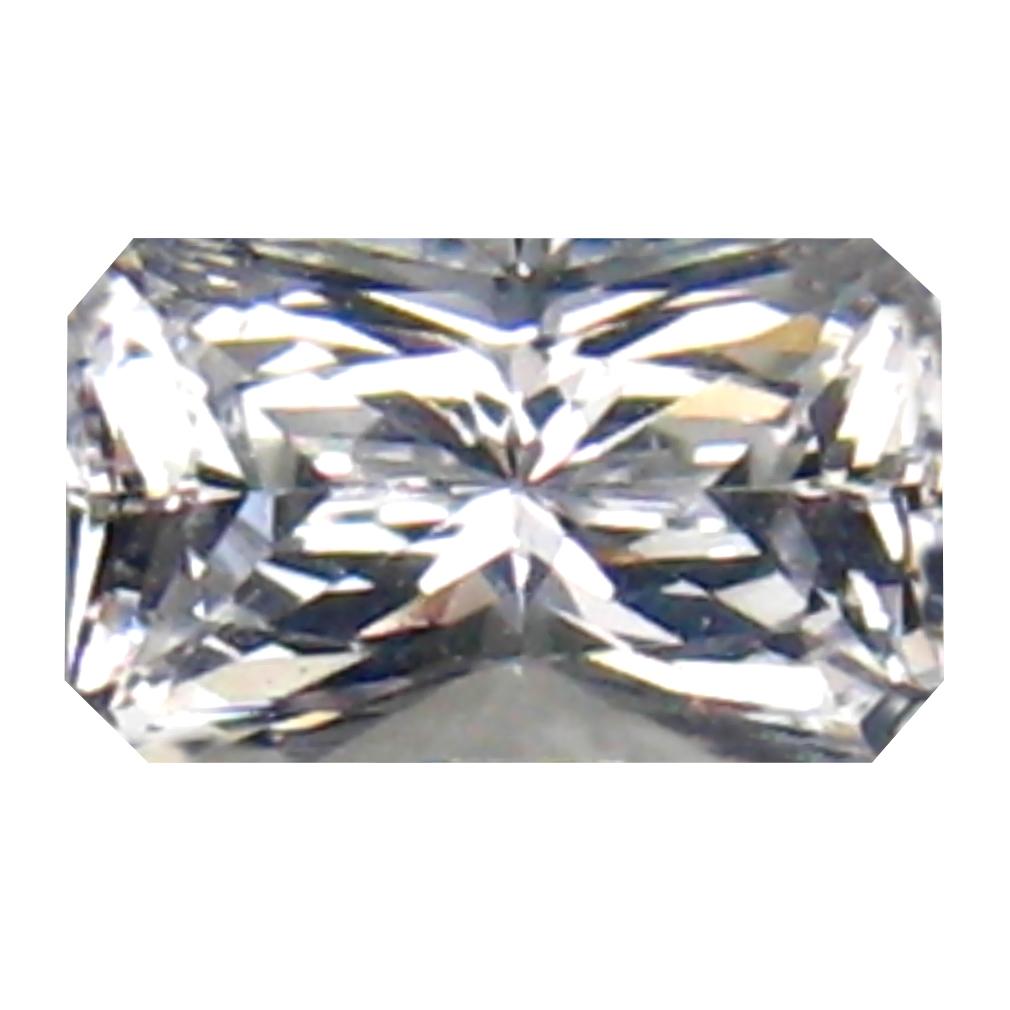 0.55 ct Amazing Octagon Cut (6 x 4 mm) 100% Natural (Un-Heated) White Danburite Natural Gemstone