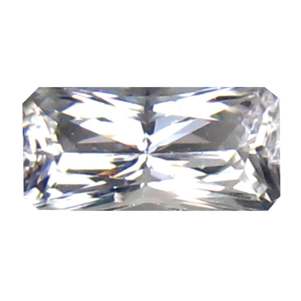 0.53 ct Flashing Octagon Cut (7 x 4 mm) 100% Natural (Un-Heated) White Danburite Natural Gemstone