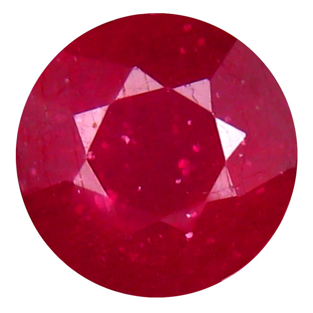 2.90 ct Best Round Cut (8 x 8 mm) Mozambique Pigeon Blood Red Ruby Natural Gemstone
