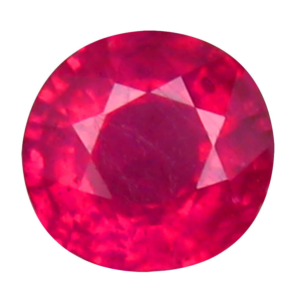 0.76 ct Flashing Round Cut (5 x 5 mm) Mozambique Pigeon Blood Red Ruby Natural Gemstone