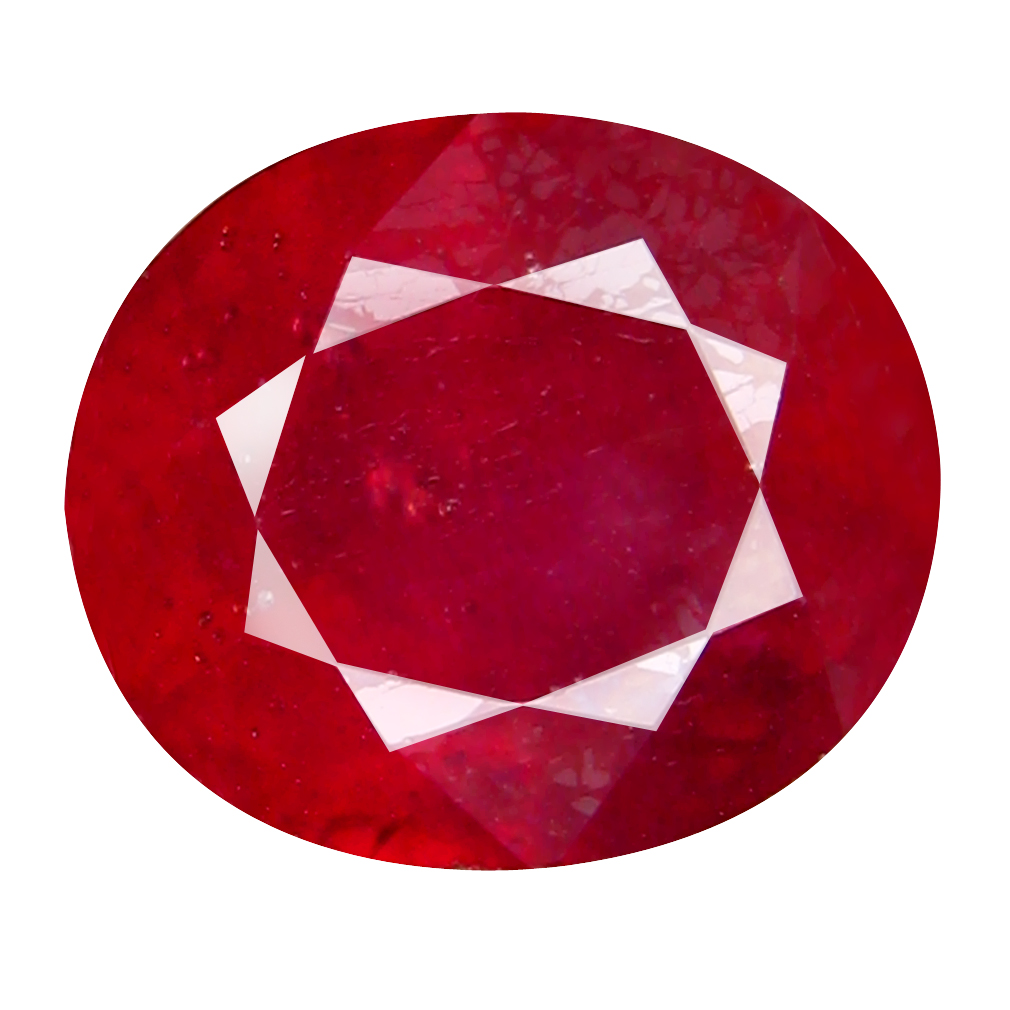 6.98 ct Pleasant Oval Cut (11 x 9 mm) Mozambique Pigeon Blood Red Ruby Natural Gemstone