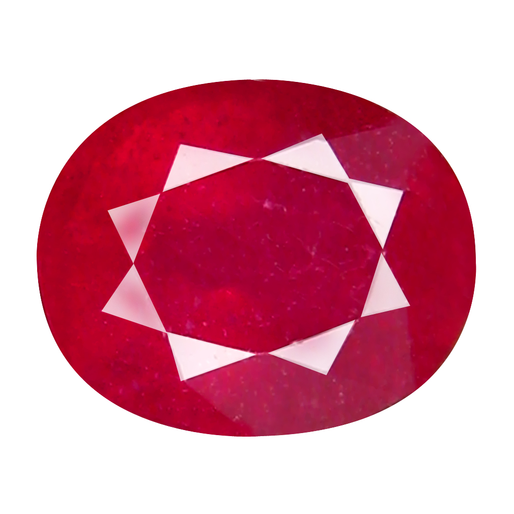 1.92 ct Mesmerizing Oval Cut (8 x 6 mm) Mozambique Pigeon Blood Red Ruby Natural Gemstone