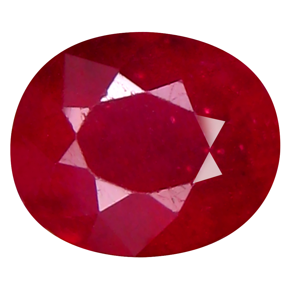 3.30 ct Tremendous Oval Cut (8 x 7 mm) Mozambique Pigeon Blood Red Ruby Natural Gemstone