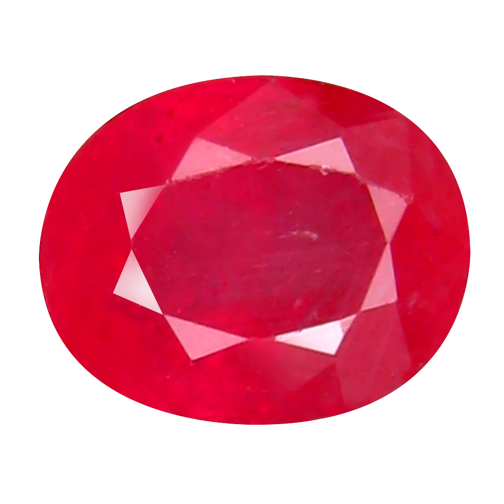 1.81 ct Pretty Oval Cut (8 x 6 mm) Mozambique Pigeon Blood Red Ruby Natural Gemstone