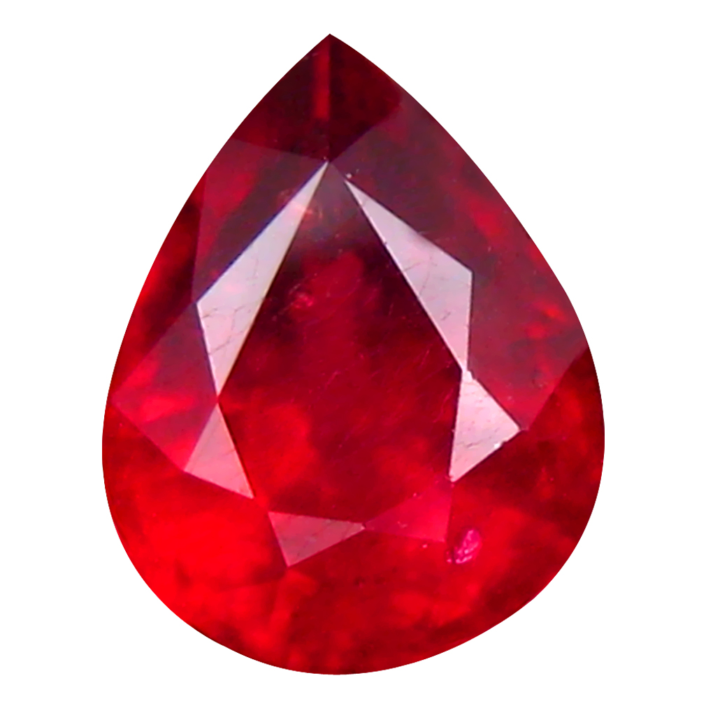 2.52 ct Spectacular Pear Cut (9 x 7 mm) Mozambique Pigeon Blood Red Ruby Natural Gemstone