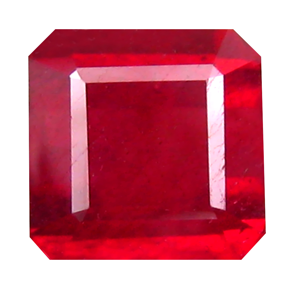 2.31 ct Impressive Octagon Cut (7 x 7 mm) Mozambique Pigeon Blood Red Ruby Natural Gemstone