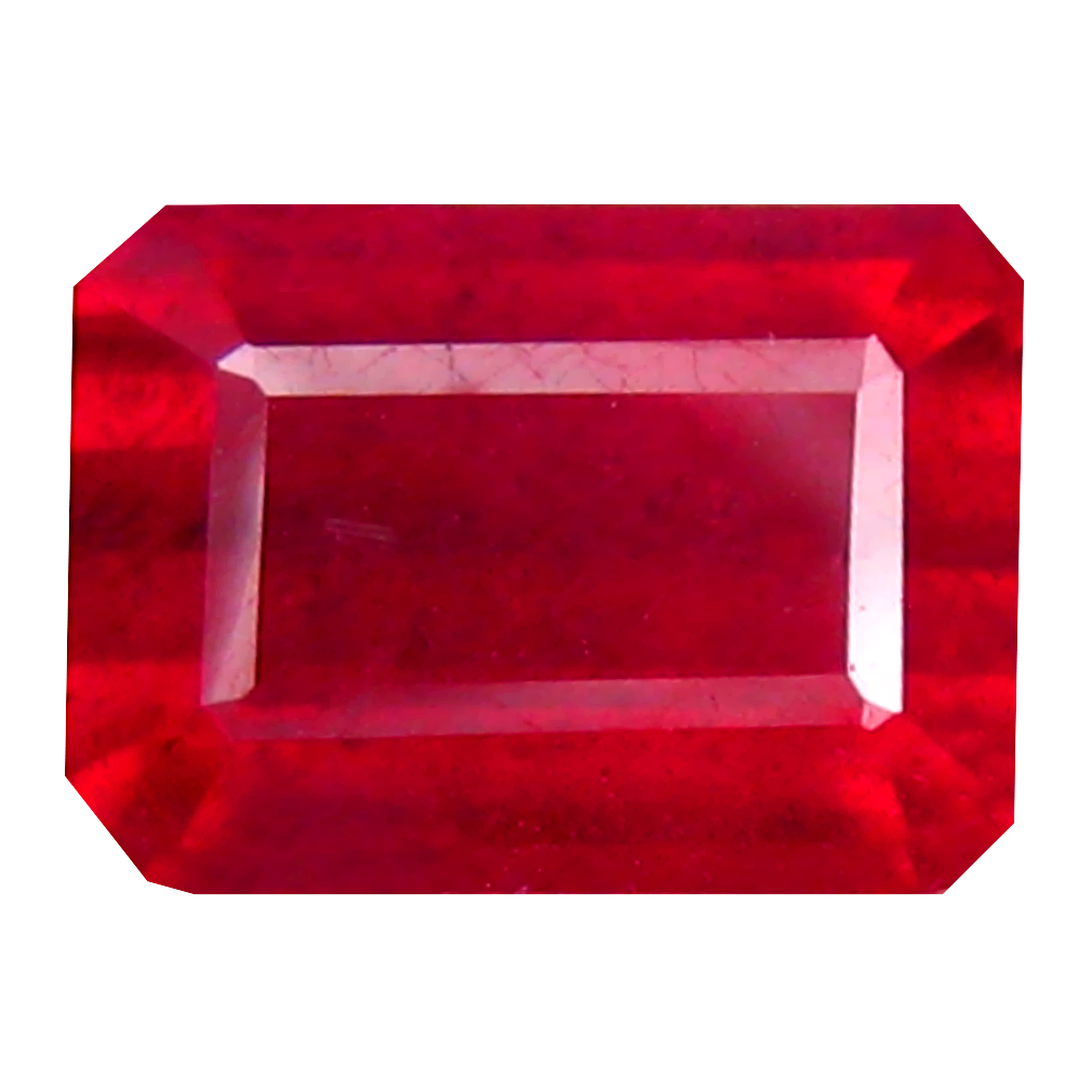 2.59 ct Sparkling Octagon Cut (8 x 6 mm) Mozambique Pigeon Blood Red Ruby Natural Gemstone