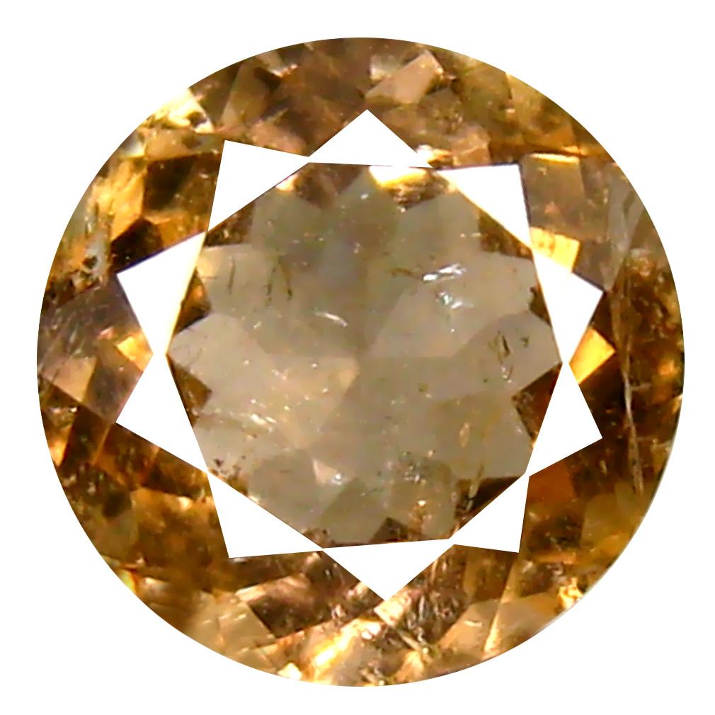 1.70 ct Fair Round Cut (8 x 8 mm) Un-Heated Natural Yellow Tourmaline Loose Gemstone