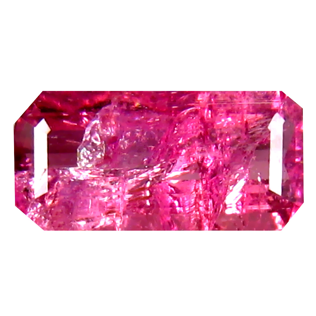 1.43 ct  Charming Octagon Shape (10 x 5 mm) Reddish Pink Rubellite Tourmaline Natural Gemstone