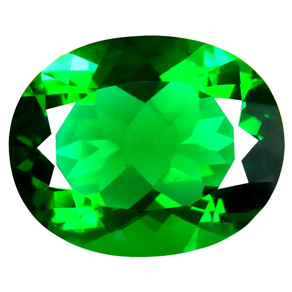 14.56 ct  Dazzling Oval Shape (19 x 15 mm) Green Moldavite Natural Gemstone