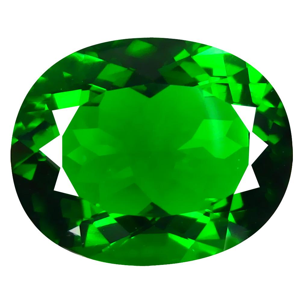 13.21 ct  Grand looking Oval Shape (18 x 14 mm) Green Moldavite Natural Gemstone