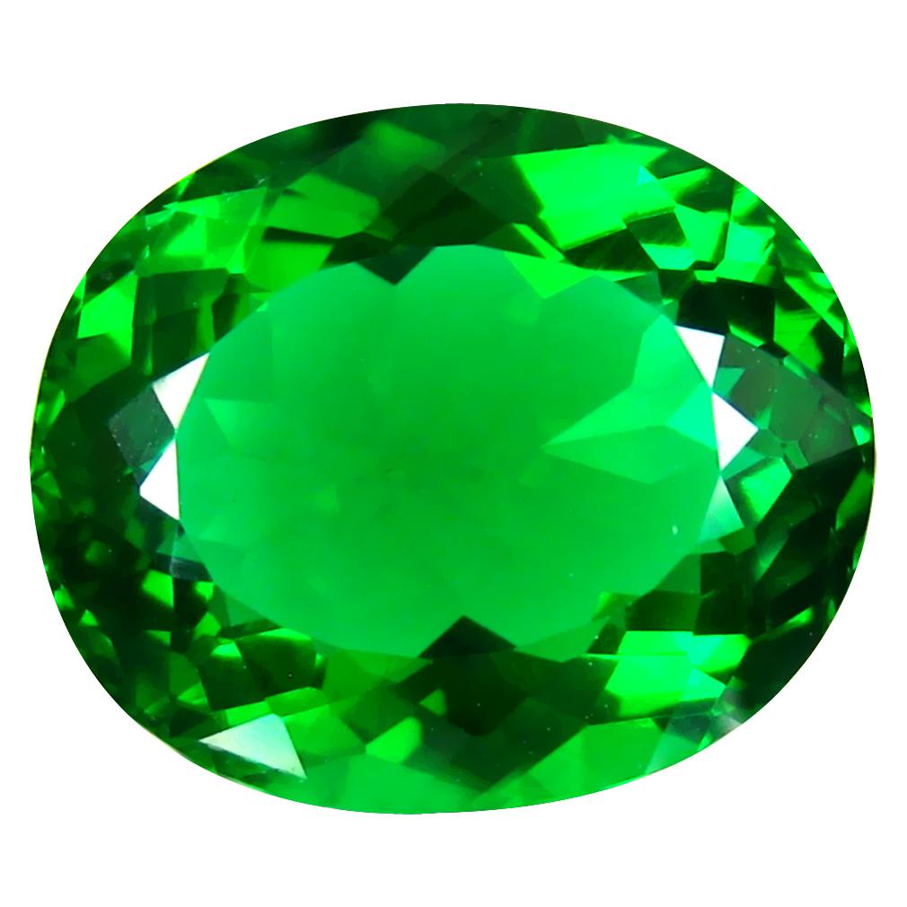 13.77 ct  First-class Oval Shape (18 x 15 mm) Green Moldavite Natural Gemstone