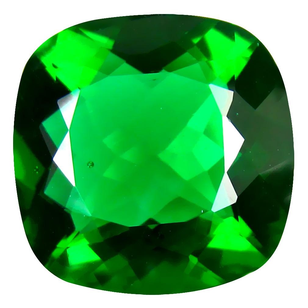 20.03 ct  Unbelievable Cushion Shape (19 x 18 mm) Green Moldavite Natural Gemstone